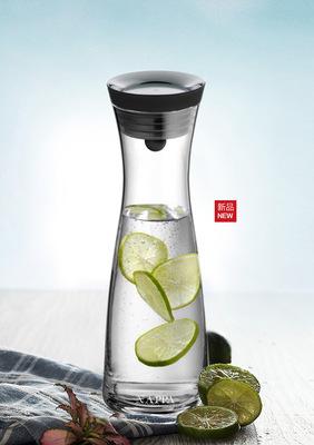 耐热玻璃冷水壶大容量1.2L/1.8L耐高温凉水壶家用果汁壶新品