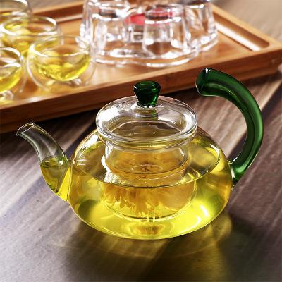 批发耐热加厚天蝎把翘把耐高温玻璃茶壶过滤功夫茶壶茶具600毫升
