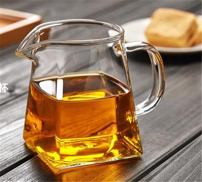 加厚玻璃公道杯耐高温分茶器带茶漏茶海功夫玻璃茶具配件
