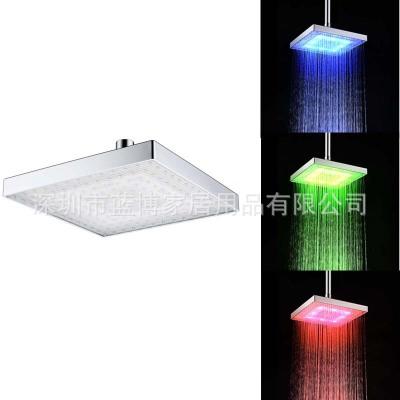 8寸特价变色顶喷 ABS方形LED顶喷 七彩/感温三色淋浴顶喷 8030-C1