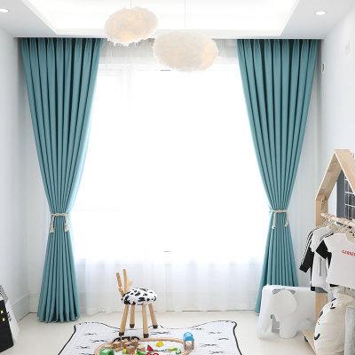 全遮光酒店窗帘遮光布阳台卧室客厅飘窗北欧简约现代窗帘成品定制