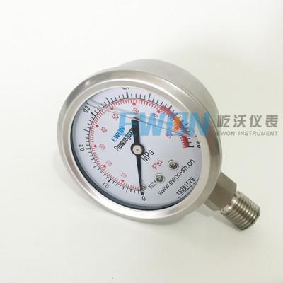 不锈钢耐震压力表 YTFN-60H/Y-60BFZ M14*1.5 冲油抗振压力表