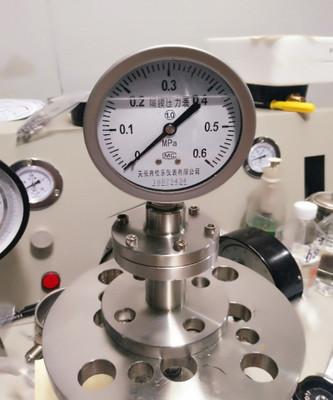 不锈钢隔膜耐震压力表Y100BF抗震螺纹压力表 径向轴向压力表40mpa