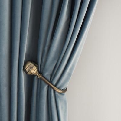 遮光荷兰绒意大利绒韩国绒高密绒绒布窗帘 成品定制多色可选