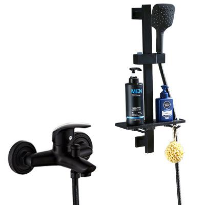厂家直销黑色花洒套装 卫生间多功能升降淋浴器 简易淋雨喷头套