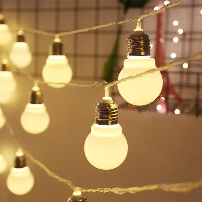 LED彩灯闪灯5厘米灯泡大圆球装饰灯串卧室摆设婚庆主播背景灯