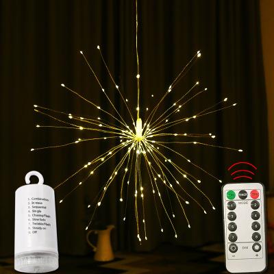 烟花灯LED蒲公英户外防水满天星星烟花铜线灯串遥控圣诞装饰彩灯