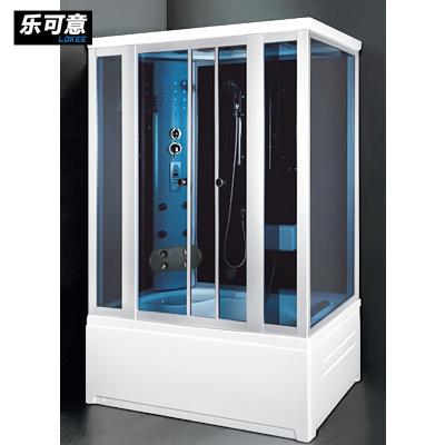 厂家直销豪华整体淋浴房 钢化玻璃带亚克力浴缸单双人蒸汽桑拿房
