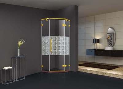 来图定制金色不锈钢淋浴房3C证书钢化玻璃长方形简易淋浴房K-7881