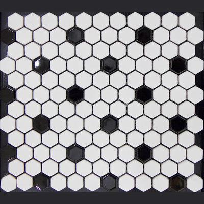 厂家直销简约时尚蜂窝状六角形陶瓷马赛克瓷砖卫生间背景墙墙地砖