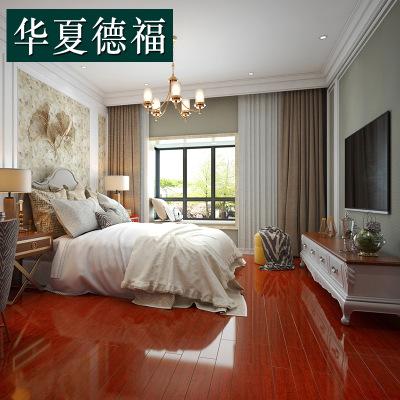 实木地板直销 大锁扣地暖印茄木菠萝格 卧室耐磨地热免龙骨地板