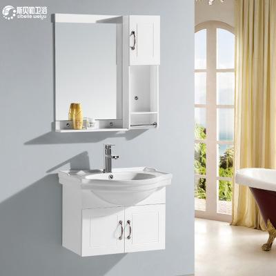 工厂直销60公分简约PVC浴室柜组合小卫生间洗脸盆面盆洗漱台