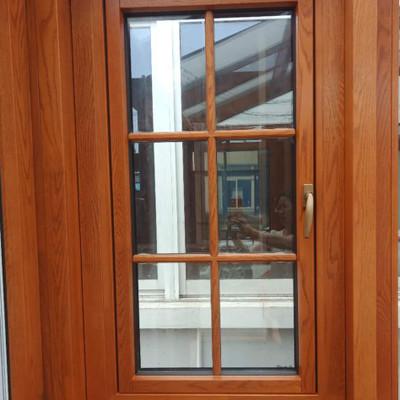 贝科利尔可定制风格简约内置隔条造型中式隔条铝包木门窗气质典雅