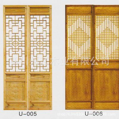 专业供应中式实木门窗 镂空实木门窗 实木门窗定制