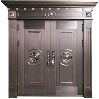 居旺阁铜门 后现代主义简约风格入户铜门 别墅大门铜门 专属定制