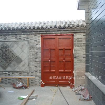 庭院小圆门 仿古实木对开门 寺庙木门定制 中式后院木门 北京门厂