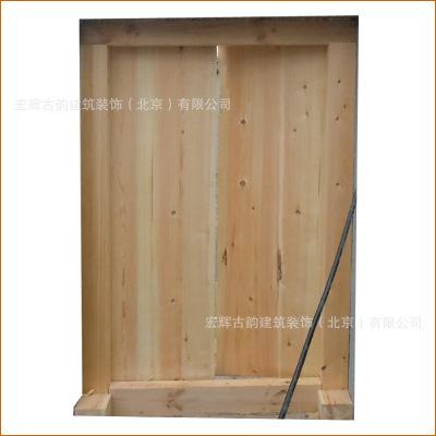 仿古松木大门定制 园林庭院对开木门直销 北京实木门设计批发