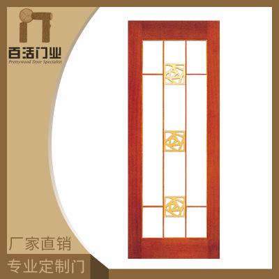泰国进口橡木实木门欧美定制书房卧室客厅原木门雕花外贸平开门