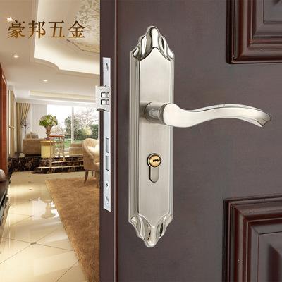 供应室内卧室房门锁家用实木门把手通用型锁具不锈钢卫生间门锁