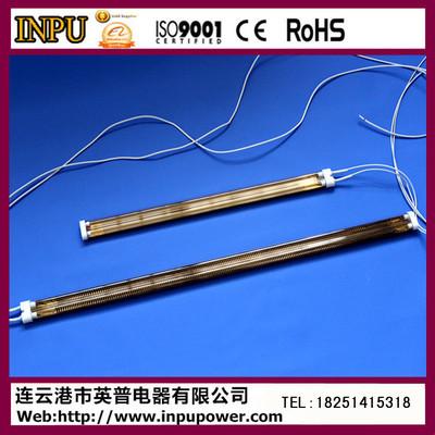 出口的高品质镀金双孔卤素石英管 双孔石英电加热管