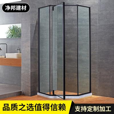钻石形沐浴房定制 不锈钢玻璃浴室 家用移门隔断洗澡间