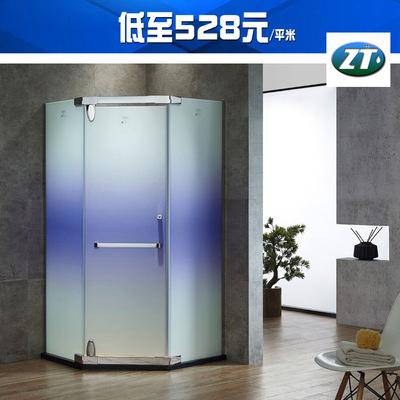 包邮包安装黑色不锈钢淋浴房双门直形隔断浴室卫生间干湿分离玻璃