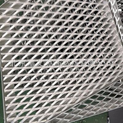 镂空拉网板厂家直销菱形孔勾搭铝单板吊顶拉网铝幕墙装饰