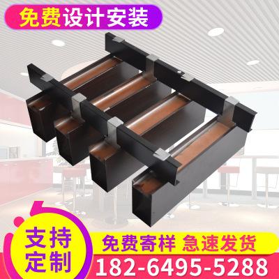 木纹铝方通 厂家供应 u形型材木纹铝方通 滚涂新型环保铝方通