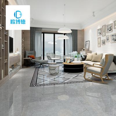 欧博德加热瓷砖 智能电加热瓷砖客厅卧室80*80通体大理石发热地砖