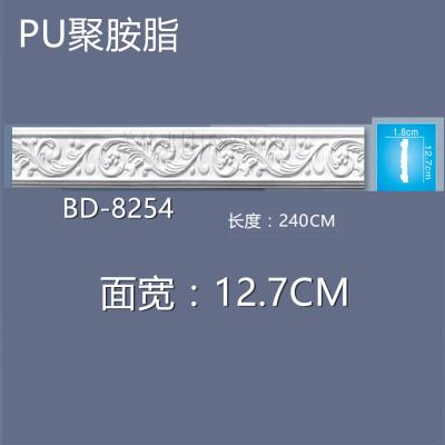 BD-8254宽PU欧式装饰平线条 PU背景墙边框 PU收口线条PU软线弧线