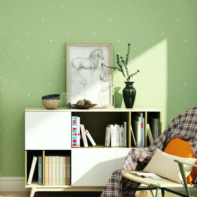 简约墙纸自粘素色纯色pvc防水贴纸温馨卧室客厅壁纸宿舍装饰墙贴