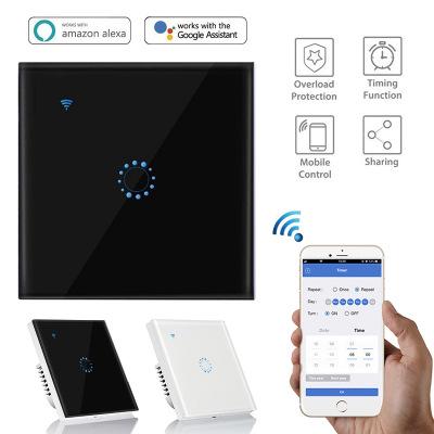 涂鸦WiFi智能触摸遥控开关 Alexa语音控制智能WiFi开关 墙壁开关