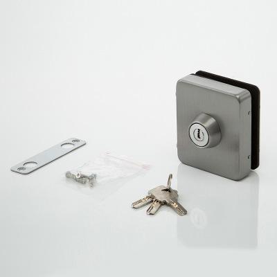 五金玻璃门锁 地插锁 免开孔玻璃门锁 12mm方形玻璃锁具源头厂家
