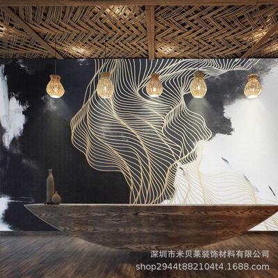 北欧风格抽象艺术墙纸现代简约餐厅卧室客厅电视背景壁纸装饰壁画