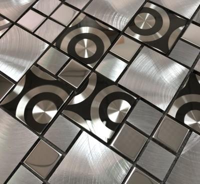 铝合金马赛克欧式镜面瓷砖客厅墙砖电视背景墙银色立体铝材不锈钢