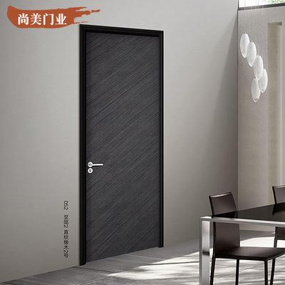 加工定制实木复合门整套门免漆隔音卧室门卫生间门酒店木门