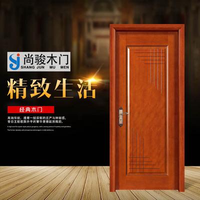 佛山厂家直销平开门 实木复合烤漆套装门 房间客厅实木门定制