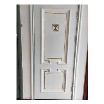 河北门木门厂 新款镶嵌系列实木复合门 烤漆门 室内房间木门