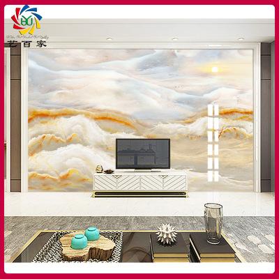 佛山工厂定制瓷砖3d背景墙微晶石 客厅电视装饰墙砖 欧式大理石纹