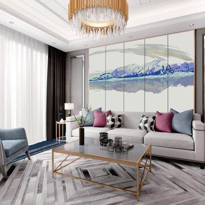 2019时尚客厅印花背景软包 家居卧室面料软包装饰墙 支持定制