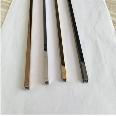 304不锈钢包边装饰线条 收边条护墙线护角线U型槽铝收边条