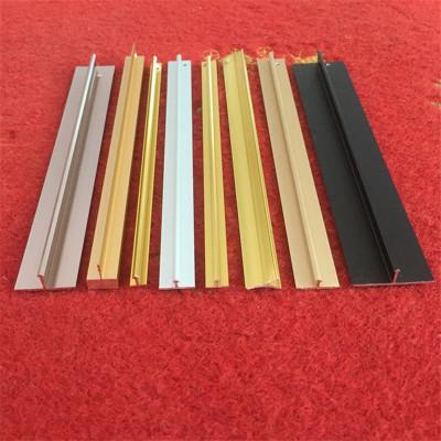 铝型材厂家开模定做工业散热器铝型材 T形铝合金装饰线条抛光氧化
