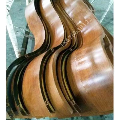 弧型铝方通价格 木纹造型铝方管定制 广州造型铝方通工厂订制加工