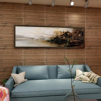 木纹幼儿园自粘墙纸3d立体墙贴客厅卧室吊顶腰线踢脚线