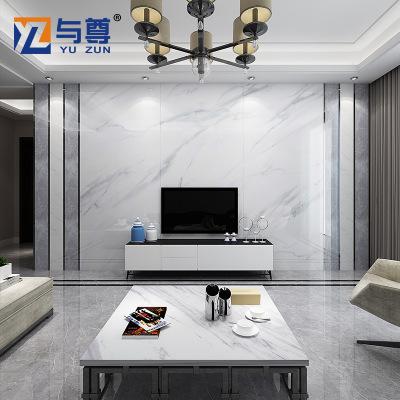 佛山电视背景墙瓷砖现代简约微晶石客厅罗马柱边框造型大理石材