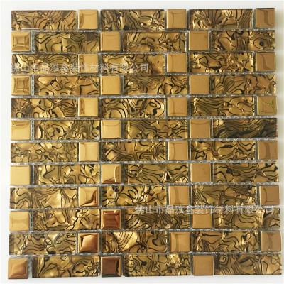 佛山厂家直销 琥珀马赛克瓷砖电视背景墙 客厅门店装饰材料