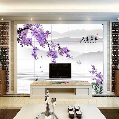 欧雅阁厂家直销新中式电视背景墙客厅瓷砖艺术3d私人定制特价大促