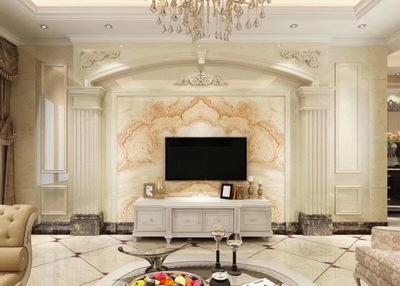 新款电视背景墙 罗马柱搭配瓷砖背景任意搭配 欢迎定制岗石罗马柱