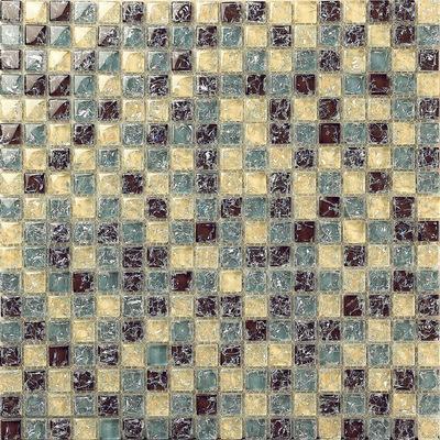 蓝色水晶玻璃冰裂马赛克背景墙客厅厨房卫生间浴室水池游泳池瓷砖