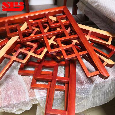定制实木中式吊顶角花 木雕实木方形角花 中式格子吊顶角花